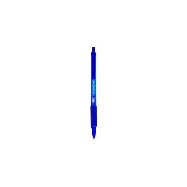 Bic Kugelschreiber Soft Feel Clic Grip blau Mine 0,4mm Schreibfarbe blau