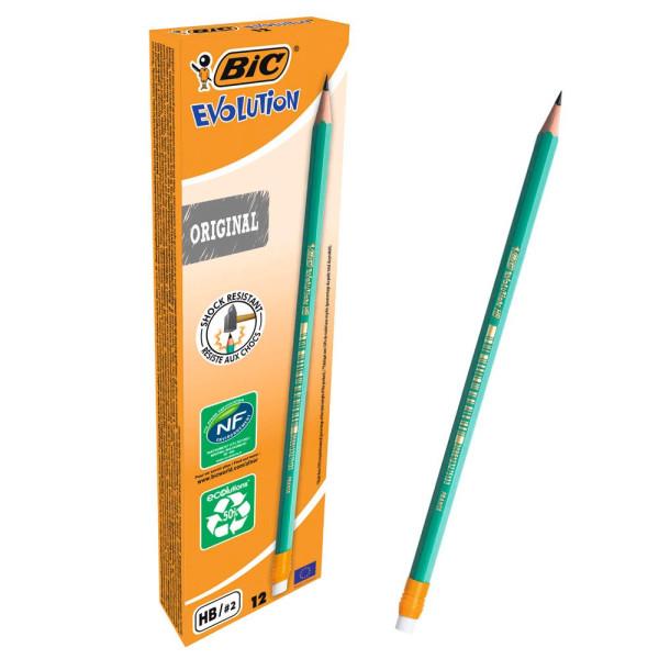 Bic Bleistift Ecolutions HB m.Radierer