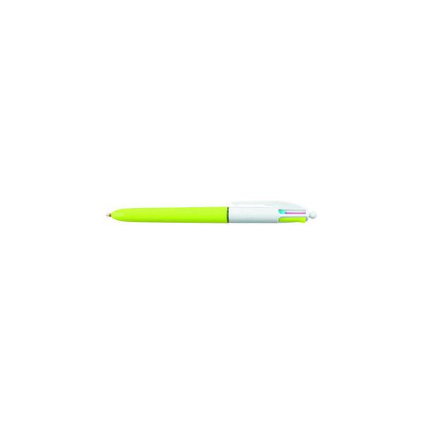 Bic Mehrfarbkugelschreiber 4Colours Fashion hellgrün/weiß Mine 0,4mm Schreibfarbe 4-farbig