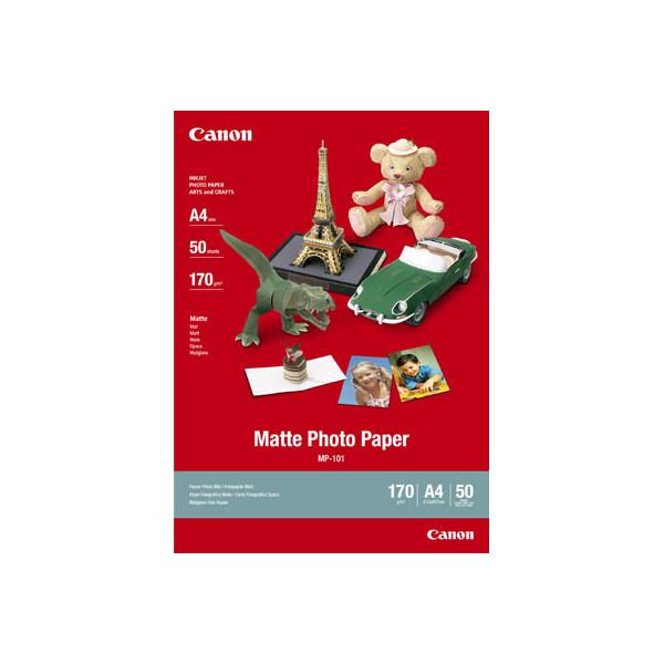 Canon Inkjet-Fotopapier A4 MP-101 einseitig matt 170g 50 Blatt