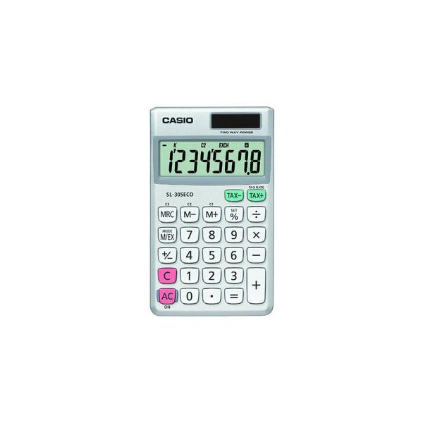Casio Taschenrechner SL-305ECO 8-stellig silber