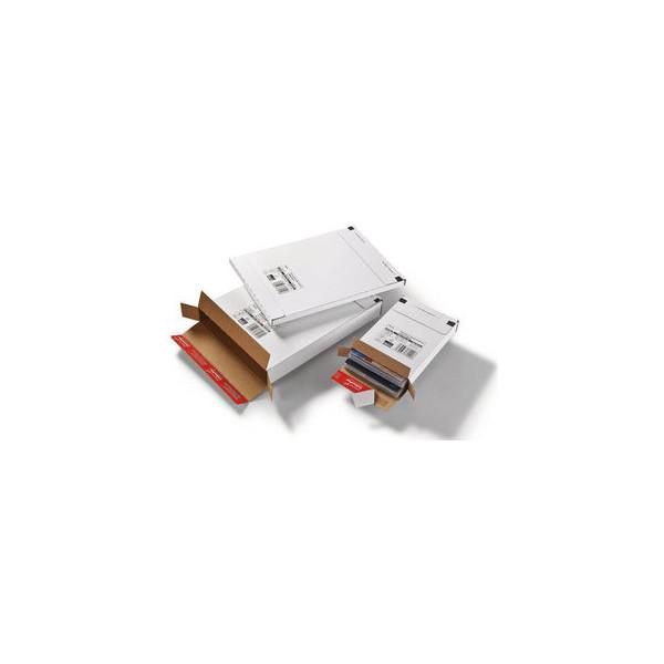 ColomPac Versandschachtel Großbrief 244x344x15 mm weiß 20 Stück