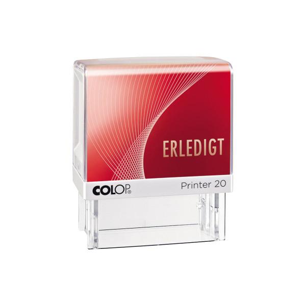 Colop Stempel 20L ERLEDIGT rot 1-zeilig