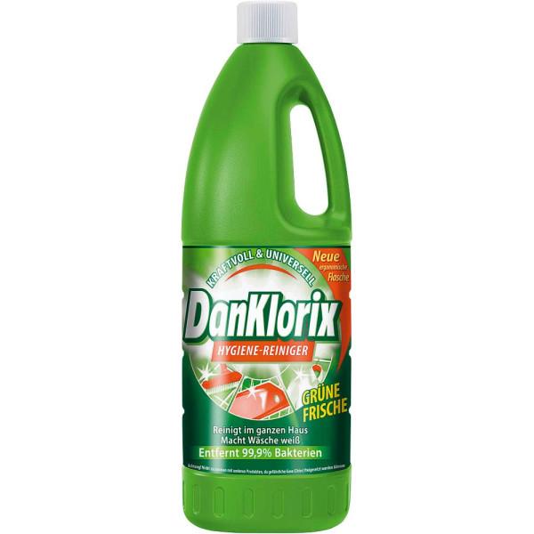 (2,21 EUR/1 l) DanKlorix Hygienereiniger frischer Duft grün Flasche 1,5 Liter