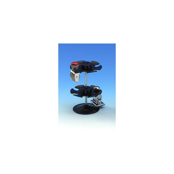 Wedo Stempelträger für 12 Stempel schwarz rund