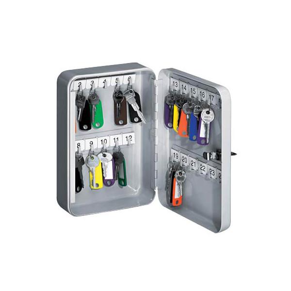 WEDO Schlüsselschrank für 24 Schlüssel lichtgrau Sicherheitsschloss