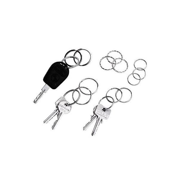 Wedo Schlüsselringe Metall gewellt je 3x Durchmesser 25mm 30mm 35mm 15 Stück