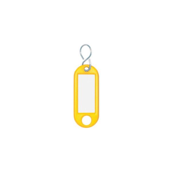 Wedo Schlüsselanhänger mit Etikett S-Hacken gelb