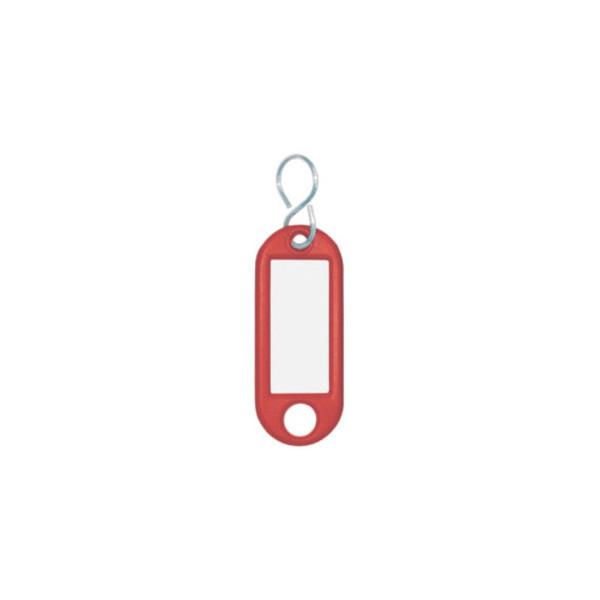 Wedo Schlüsselanhänger mit Etikett S-Hacken rot