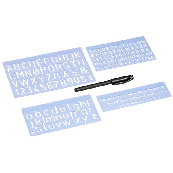Wedo 7012 Schablonenset 5, 10, 20mm 3 Stück