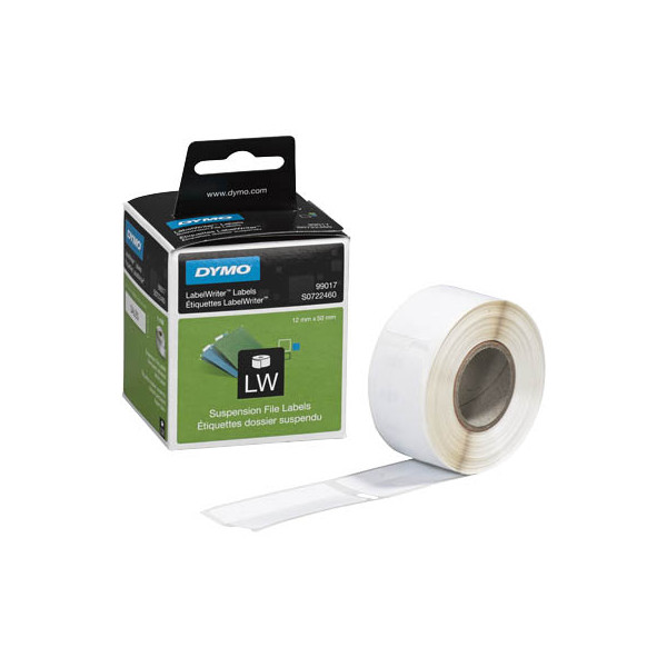 Dymo S0722460 50 x 12 mm weiß 220 Stück Etiketten auf Rolle für Hängeregister