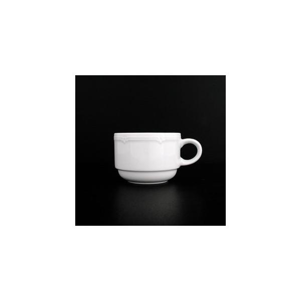 Eschenbach Kaffeetasse Minoa 180ml weiß Porzellan stapelbar