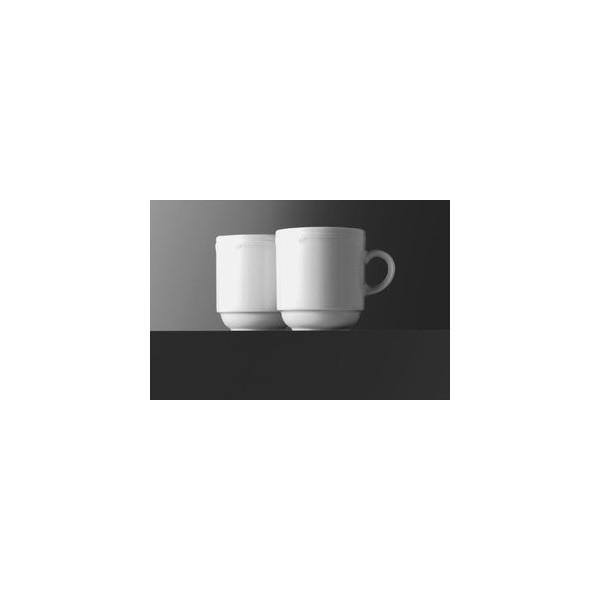 Eschenbach Kaffeetasse Minoa 260ml weiß Porzellan stapelbar