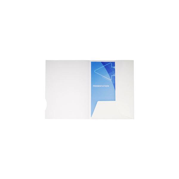 Exacompta Präsentionsmappe Chromolux 2t. weiß 24x32cm Maxi