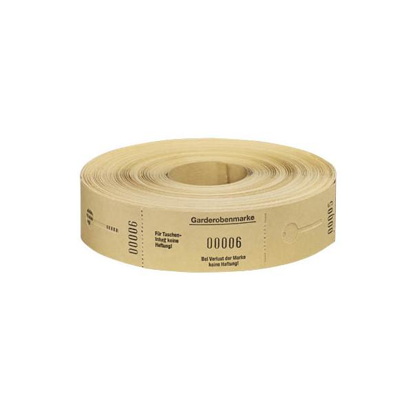 Wolf & Appenzeller Garderobenmarken W&A 1-500 gelb Nr.675002 Rolle