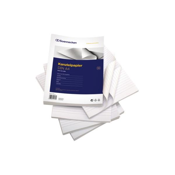 Soennecken Kanzleipapier 5281 A3 auf A4 gefalzt liniert ohne Rand weiß 250 Blatt
