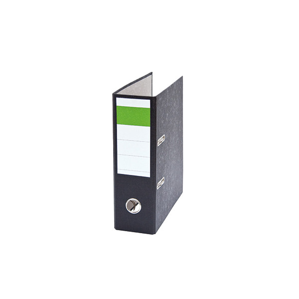 Ordner DIN A5 hoch 75mm Recyclingpapier schwarz