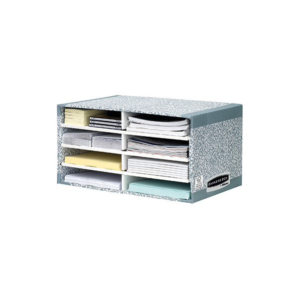 Fellowes Sortierstation Bankers Box System 08750EU 49x26x31cm grau/weiß Karton
