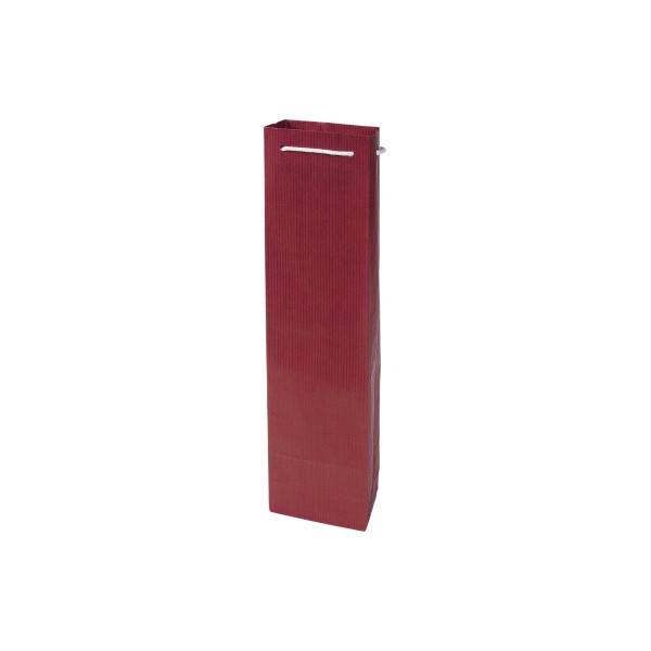 Geschenktragetasche für 1 Flasche rot 9,5x6,5x38cm 100 Stück