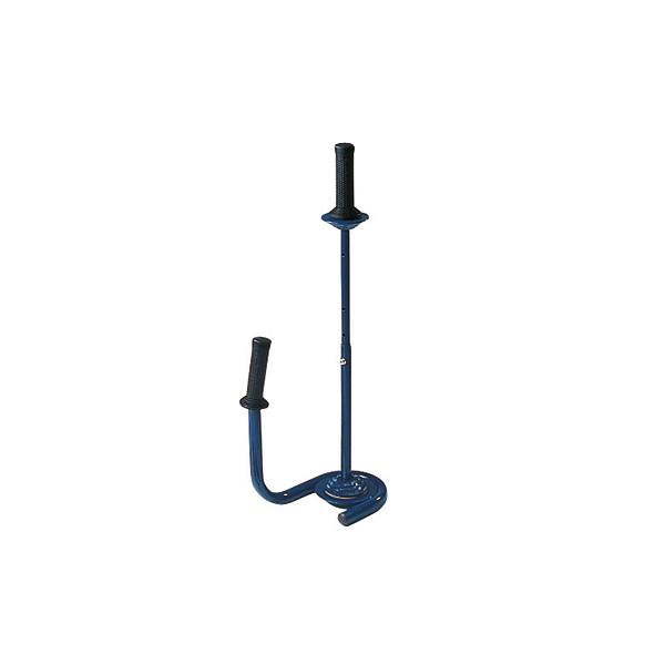 Hand-Stretchfolienabroller Metall blau für Kern-Ø 38mm leer