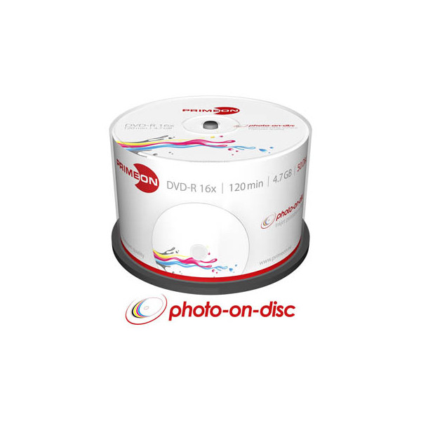 PRIMEON DVD-R 2761206 16x 4,7GB 120Min. bedruckbar 50 St./Pack.