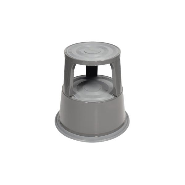 Soennecken Rollhocker 3612 mit 3Gleitrollen grau