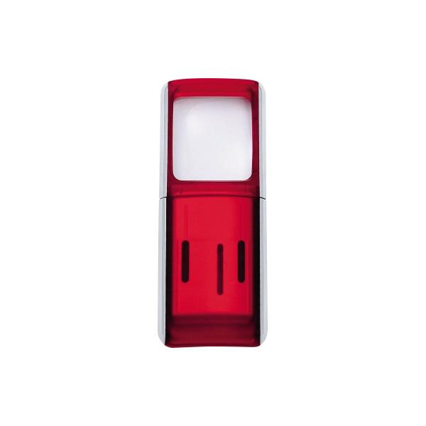 WEDO Lupe 2717502 4,7x11,8x1,4cm LED rot +Batterien