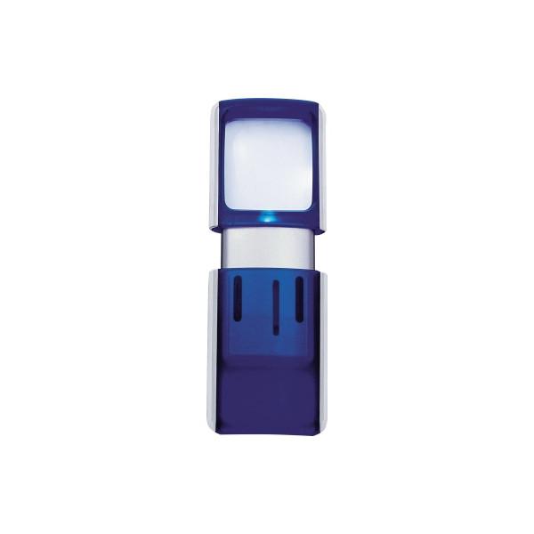 WEDO Lupe 2717503 4,7x11,8x1,4cm LED blau +Batterien
