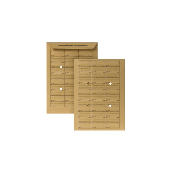 POSTHORN Hausposttaschen C4 4 Sichtlöcher 110g Druck Sichtlöcher braun