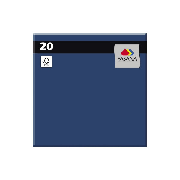 FASANA Serviette 33x33cm royalblau 3-lagig 1/4-Falz 20 Stück