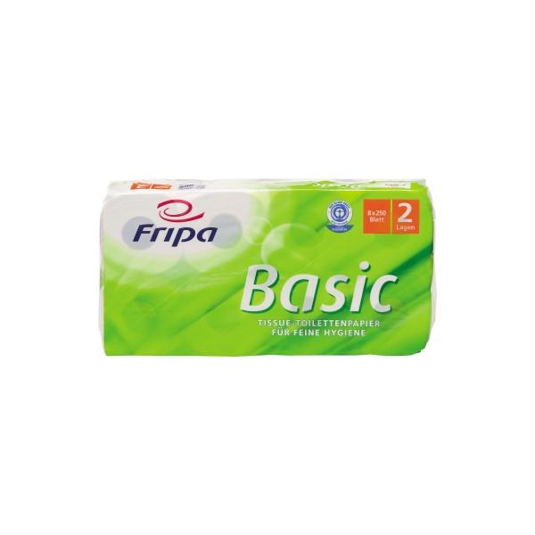 fripa Toilettenpapier Basic 1510805 2-lagig 8 Rollen
