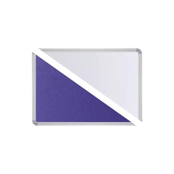 Ultradex Stellwand 749218 150x120cm Filz/Whiteboard Tellerfuß ws/bl