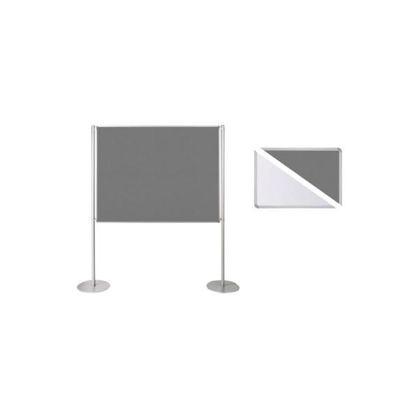 Ultradex Stellwand 749228 150x120cm Filz/Whiteboard Tellerfuß ws/gr