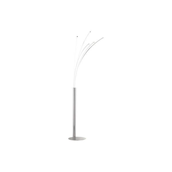 WOFI Stehlampe Linee dimmbar 190cm hoch chromfarben