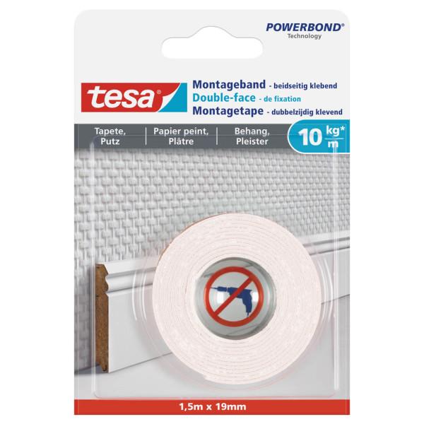 tesa Montageklebeband Powerbond® 19 mm x 1,5 m (B x L) 10kg beidseitig klebend