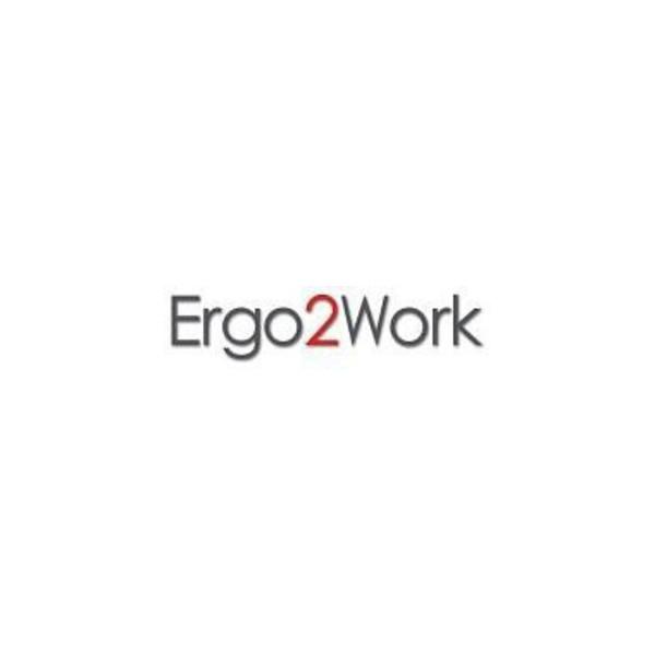 Ergo2Work Fußstütze Relax 3-f.verstellb. sw/gr m.Beinstütze ergonom.