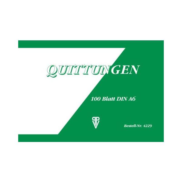 PVP Penig Quittung A6 quer 100 Blatt