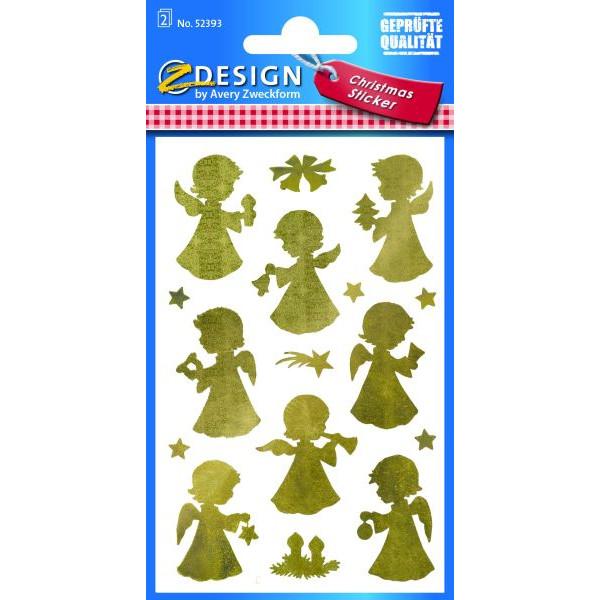 Zweckform Z-Design 52393, Weihnachtssticker, Engel, 2 Bogen/32 Sticker
