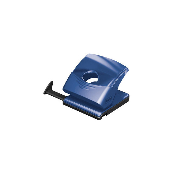 Staples Locher mit Kunstst.-Schiene blau 25 Blatt 80mm