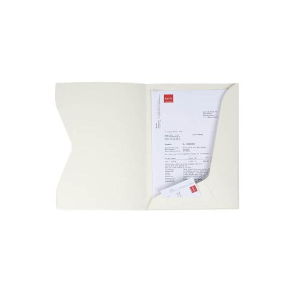 Elco Präsentationsmappe Prestige - A4, Karton 270 g/qm, elfenbein, 10 Stück