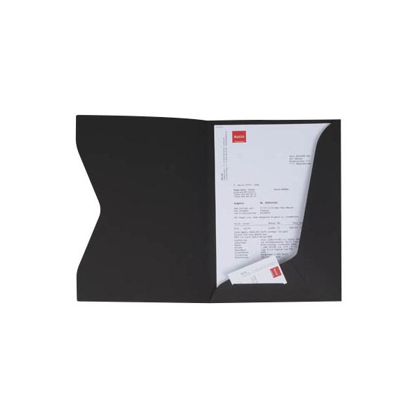 Elco Präsentationsmappe Prestige - A4, Karton 270 g/qm, schwarz, 10 Stück