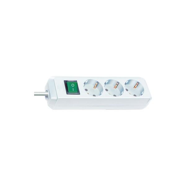 brennenstuhl Steckdosenleiste Eco-Line 3 Steckdosen 3m weiß