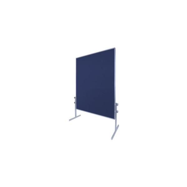 BI-Office Mobile Pinnwand zweiseitig blau 150x120cm
