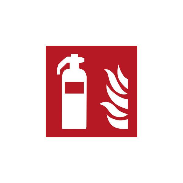 Generic Brands EU (neut.Marke) Hartschild Feuerlöscher rot/weiß 200x200