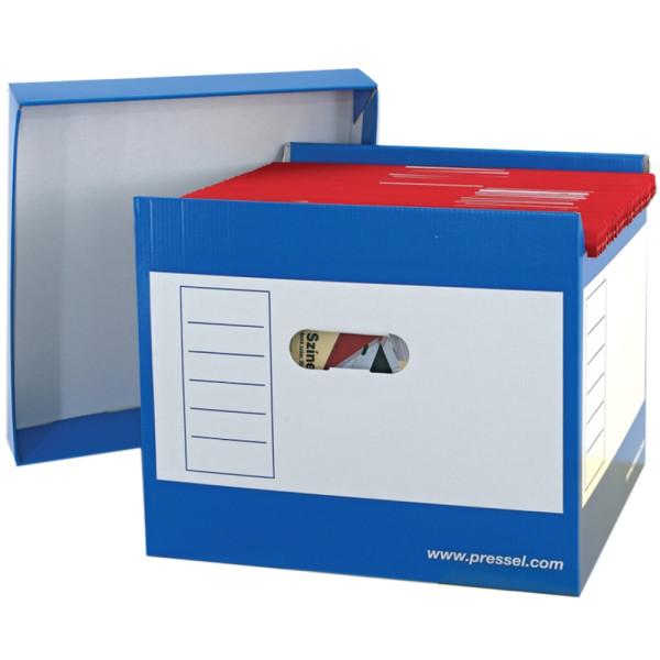 Pressel Hängebox Top-Portable, leer, A4, für: 50 Hängemappen, blau