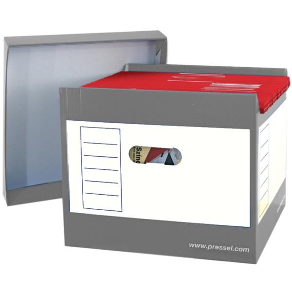 Pressel Hängebox Top-Portable, leer, A4, für: 50 Hängemappen, grau