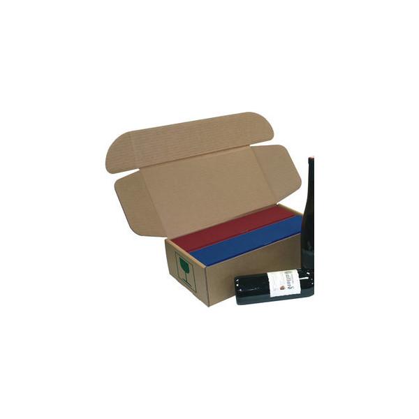 Pressel Versandkarton für 2 Geschenkboxen 420x230x119 mm braun 10 Stück