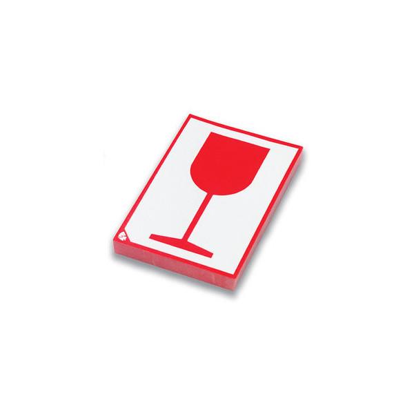 Pressel Etikett, Glas, sk, Papier, 80 x 105 mm, weiß/rot