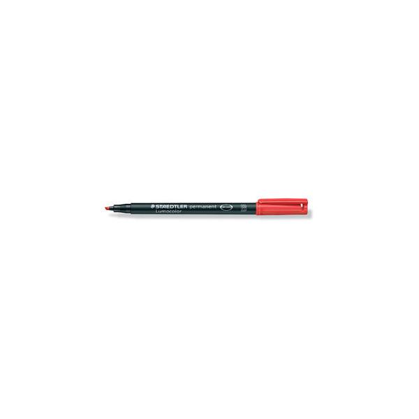 Lumocolor OHP-Stift B wasserf.nachfb. rot 1-2,5mm Keil 10 St