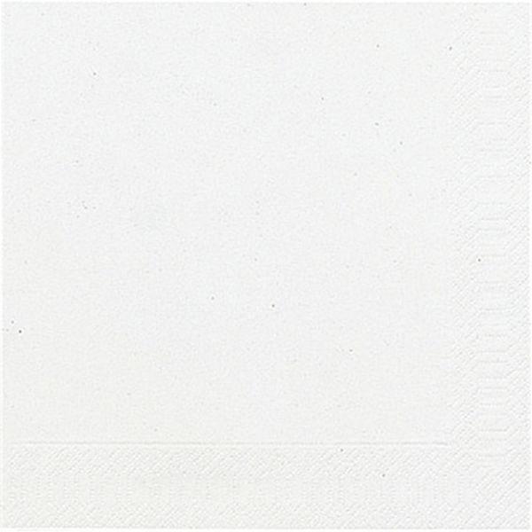 DUNI Servietten 24x24cm weiß 3-lagig 1/4-Falz 20 Stück
